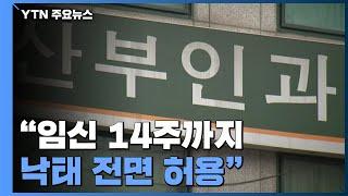 """""""임신 14주까지 낙태 전면 허용""""...정부, 법 개정 착수 / YTN"""