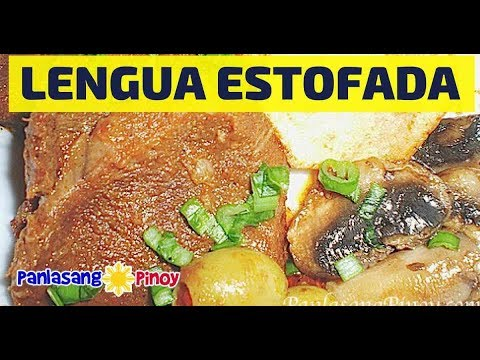 Lengua Estofada (Ox Tongue Stew with Mushroom and Olives)
