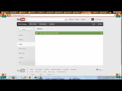 how to remove recommended videos from youtube, how to delete the history in youtube 2012