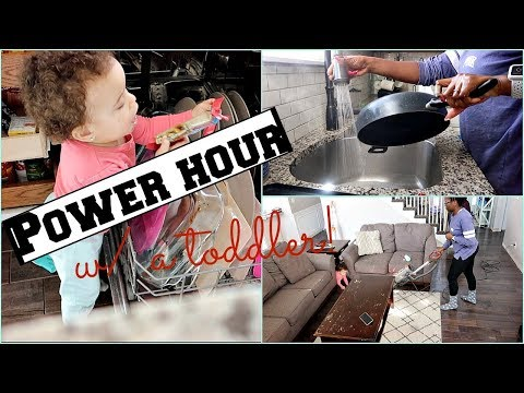 Power Hour Clean With Me| Cleaning with a baby!