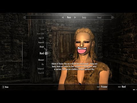 Skyrim - How to change Race, Gender, Appearance at any time!