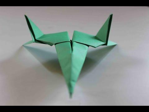Como hacer un Avion de Papel que Vuela Mucho - Origami Avión | Star Fighter Paper Plane