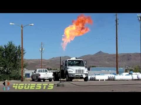 Propane Gas Fire, Controlled Burn, Emptying Tank
