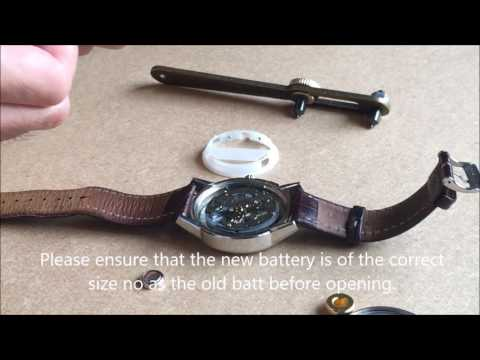How to replace a Fossil watch battery