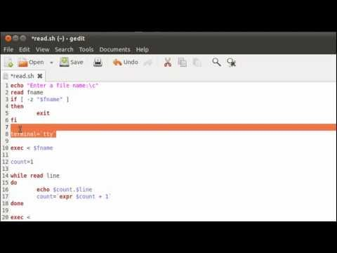 Shell Scripting Tutorial-47: Reading From a File