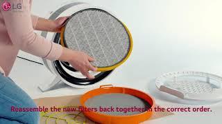 LG PuriCare Air Purifier Round Console - Maintenance