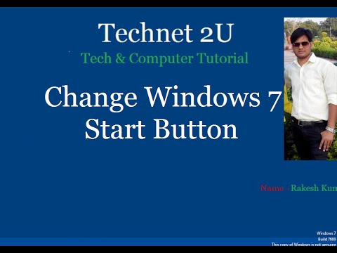 How to Change Windows 7 Start button Icon