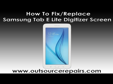 How To Fix Replace Broken Samsung Tab E Lite SM-T113UD Digitizer Screen