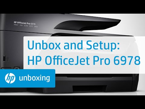 Unboxing, Setting Up, and Installing the HP OfficeJet Pro 6978 Printer