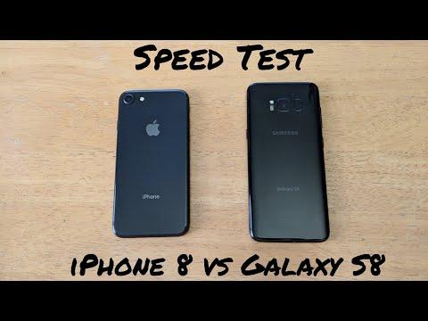 iPhone 8 VS Galaxy S8 Speed Test