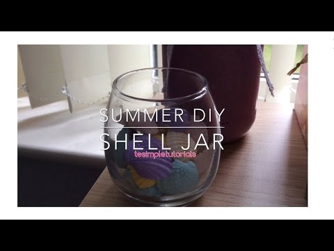 Summer DIY // Room Decor : Shell Jar