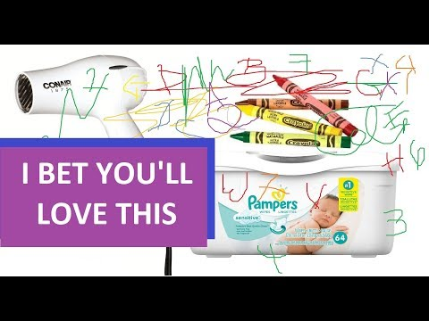 How to remove - Crayon drawings from wall