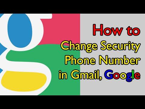 How to Change Security Phone Number in Gmail, Google - วิธีเปลี่ยนเบอร์โทรฯที่ใช้เชื่อมต่อกับอีเมล