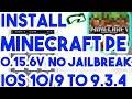 Updated New Install Minecraft PE 0.15.6 Free No Jailbreak On iOS 10/9.3.4/9.3.3 iPhone/iPod/iPad