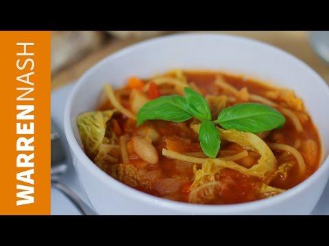 Minestrone Soup Recipe - Easy homemade Italian - Recipes by Warren Nash