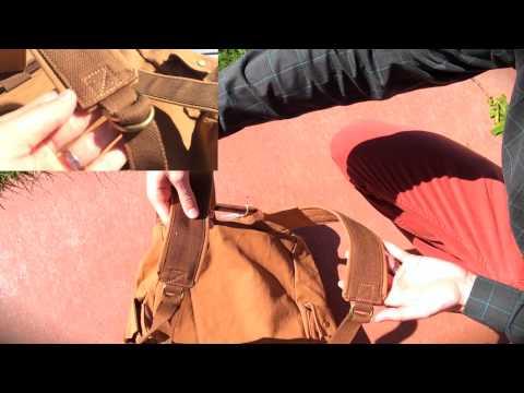 ★★★★★  Winkine Large Retro Canvas Leather Laptop Backpack - Vintage Travel Rucksack - Amazon