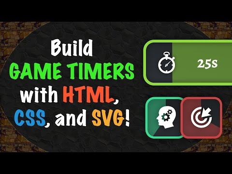 Player SKILL TIMER and BUFFS with HTML, CSS, and SVG!