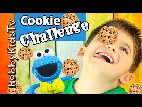 Cookie Monster Cookie FACE Challenge with HobbyKids