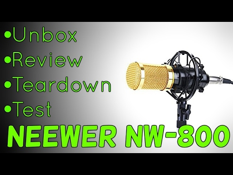 (BEST BUDGET MICROPHONE) Neewer NW-800 Review | Unbox | Setup | Test - An Idiots Guide
