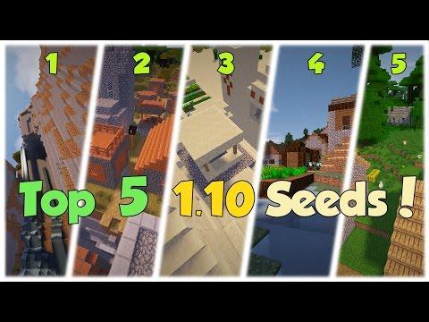 TOP 5 CRAZIEST SEEDS IN MINECRAFT 1.10!