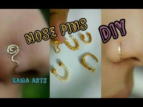 5 DIY ideas for Nose pins | Easy and simple making | jewellery tutorials