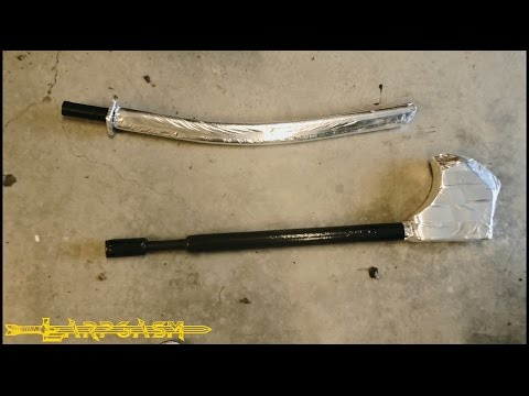 How To Make A Basic Boffer Katana And Axe For Cyberpunk Larp