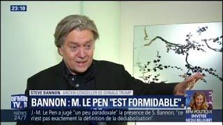 """Pour Steve Bannon, """"Marine Le Pen est l"""