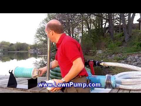 Lake Pump watering from a Lake Sprinkler