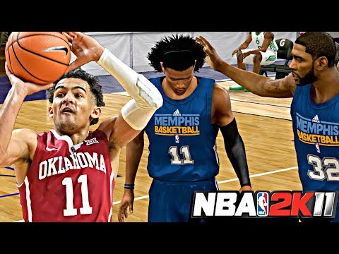 NBA 2K11 MyPLAYER TRAE YOUNG #6 - SPLASHING CONTESTED 3's IN THE 1ST SUMMER LEAGUE GAME!