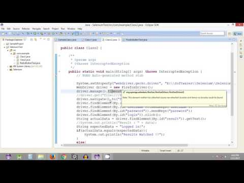 Selenium Tutorial #23 - Selenium WebDriver - Working with Radio Buttons