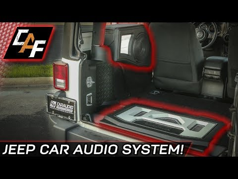 FINISHED! Custom Subwoofer Box and Amp Rack - Jeep Project Overview