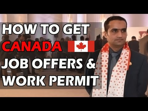 Canada Best Options To Get Work Permit Visa || Job Offer From Canada