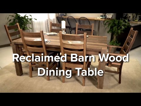 Reclaimed Barn Wood Dining Set at DutchCrafters