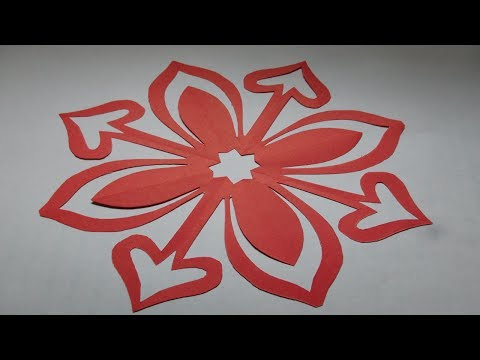 How to make simple & easy paper cutting flower designs/ paper flowers/DIY Tutorial by step by step