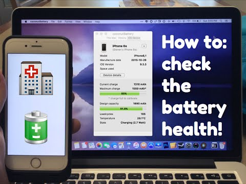 Check the battery health of your Apple Device!