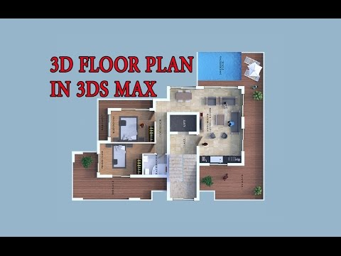 How to make 3d floor plan-3ds max part I