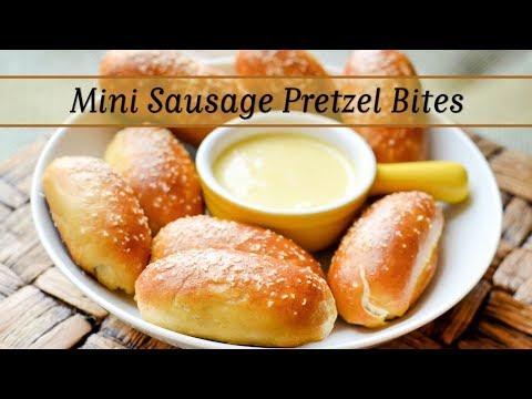 Mini Sausage Pretzel Bites