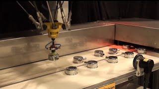 Robotic Pick and Place at 182 Parts/minute - FANUC's M-2iA Delta Robot Picks Breather Caps