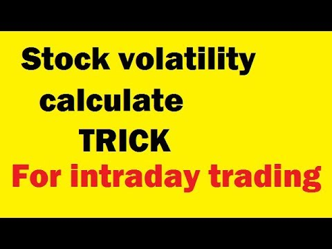 stock volatility - Calculate any stock volatility for day trading in hindi