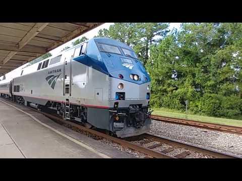 Amtrak 90 Silver Service/Palmetto (AMTK 824) at the North Charleston Train Station