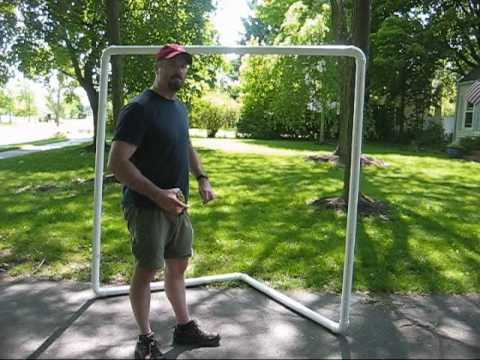 How to make a lacrosse goal for $30
