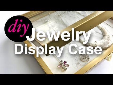 How To Make A Jewelry Display Storage Case Using Dollar Tree Items | Treshaja