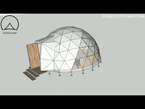 3D Model of Glitzcamp ecoliving dome - PVC geodesic dome tent
