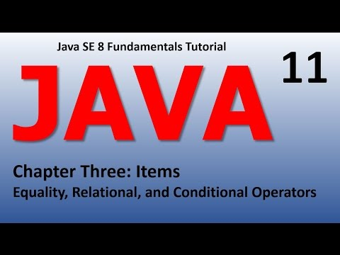 Java Equality, Relational, and Conditional Operators Epi 11
