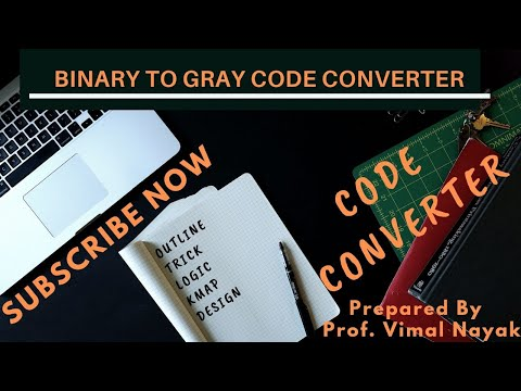 Binary to Gray code converter with implementation