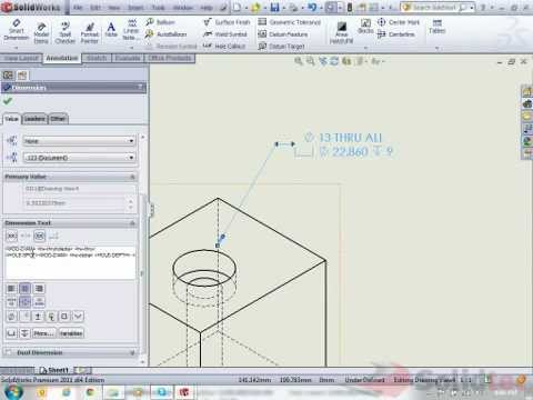 How to Modify SolidWorks Hole Callouts