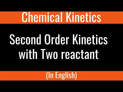 How to :  Second Order Kinetics Two Different Reactant GPS 8.6