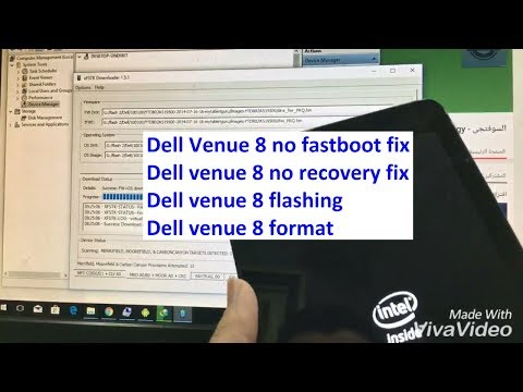 dell venue 8 fix no fastboot fix no recovery reset pattern lock حل مشكله عدم دخول الهاتف فاست بوت