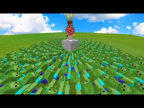 100,000 ZOMBIES VS 1 YOUTUBER IN MINECRAFT