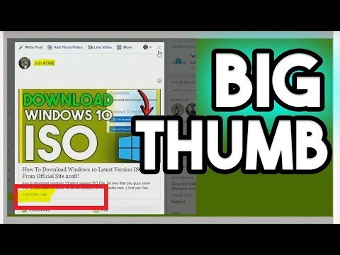 How To Make Big Thumbnail For Facebook 2018 Big Thumbnail For Facebook